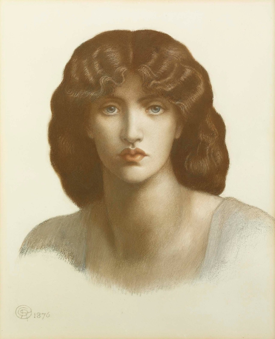 Study ofJane Morris for 'Mnemosyne' 1876 (detail) image