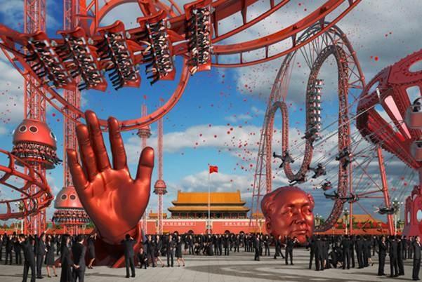 Chen Zhou + Huang Keyi, China Carnival No1: Tiananmen image