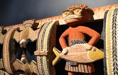 Malangan wooden carving image