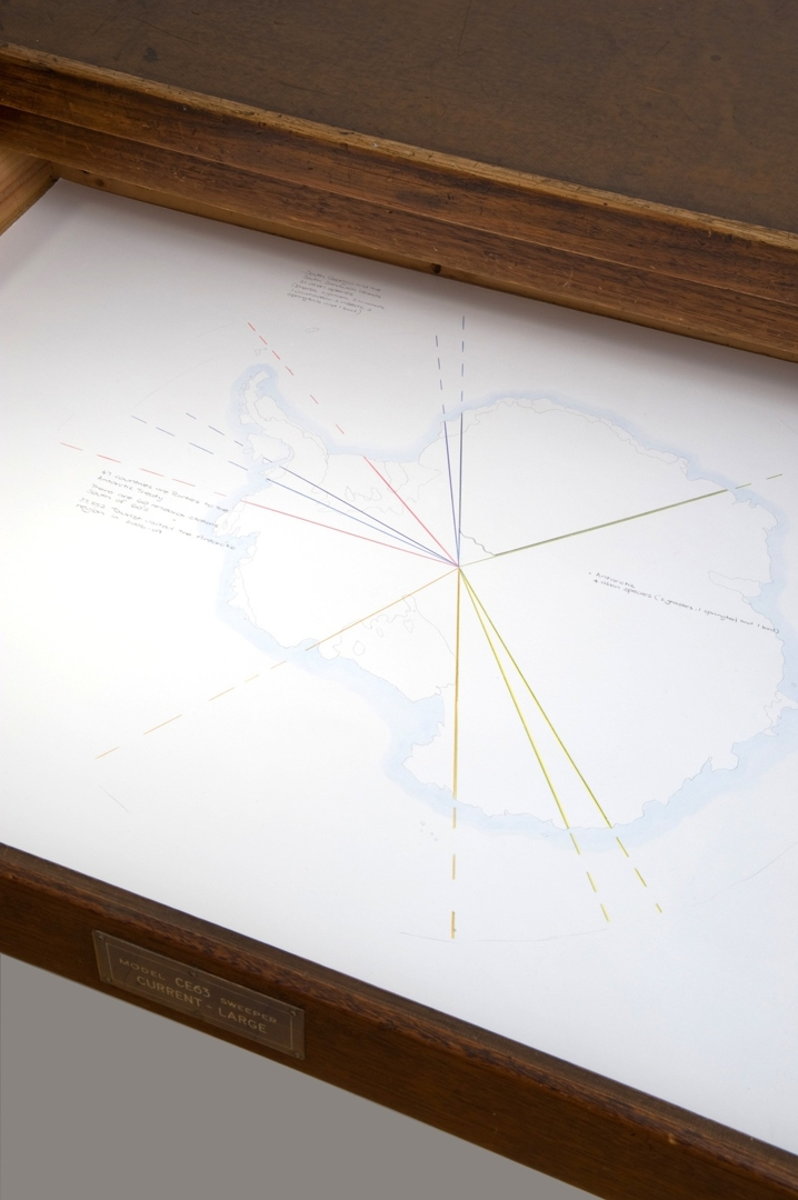 Debbie Symons- Tomorrow Land, 2011. Installation view showing drawing:Geopolitics (Alien non-indigenous species). image