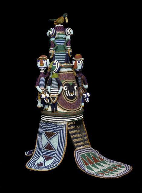 Beaded Crown (Ade) of Onijagbo Obasoro Alowolodu, Ogoga of Ikere image