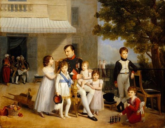 Napoleon I on the terrace of the château of Saint-Cloud 1810 image