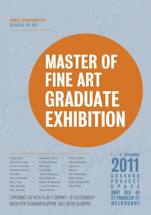 RMIT Master of Fine Art Graduate Exhibition image