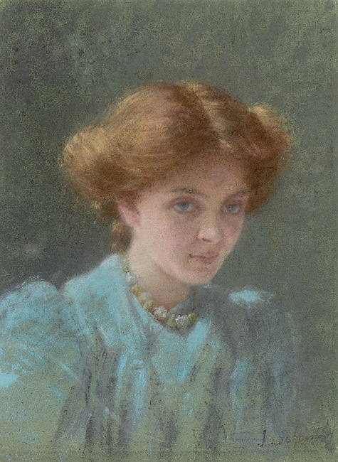 Blue and gold: portrait of Dorothy Sutherland image