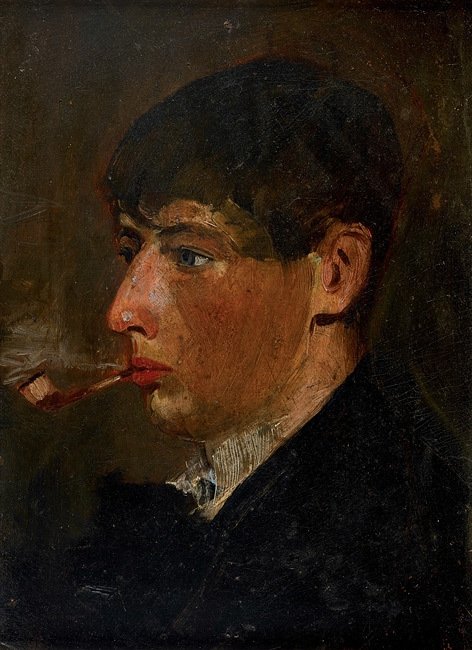 Portrait of Norman Lindsay as a student image