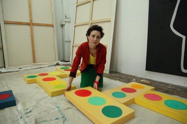 Shura Chernozatonskaya in her studio image