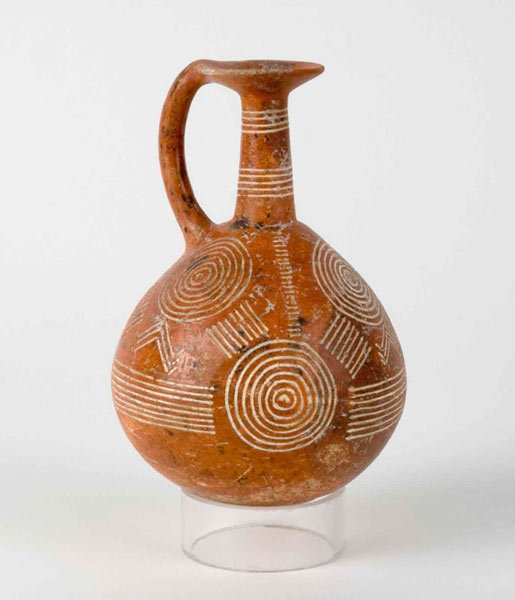 'Red polished ware juglet with incised decoration' image