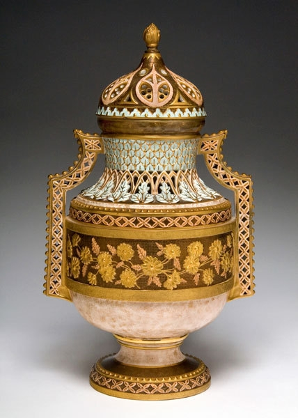 Faience Manufacturing Company (1881–92). Covered Vase, circa 1887 image