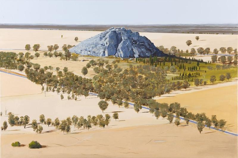 Mitre Rock & Lake image