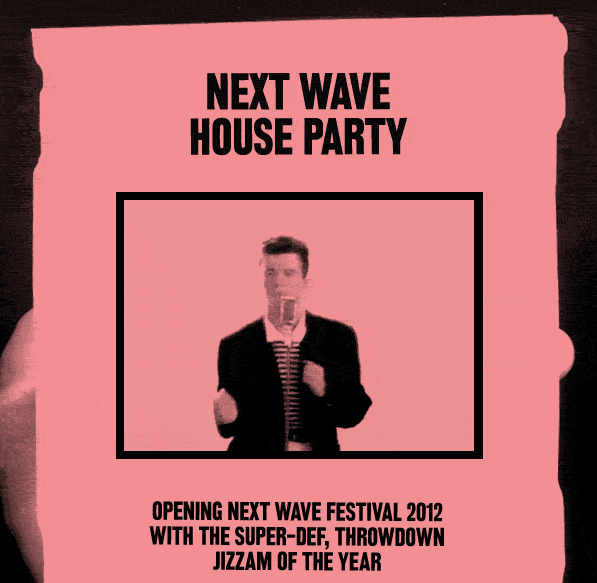 NEXT WAVE FESTIVAL OPENING NIGHT HOUSE PARTY image