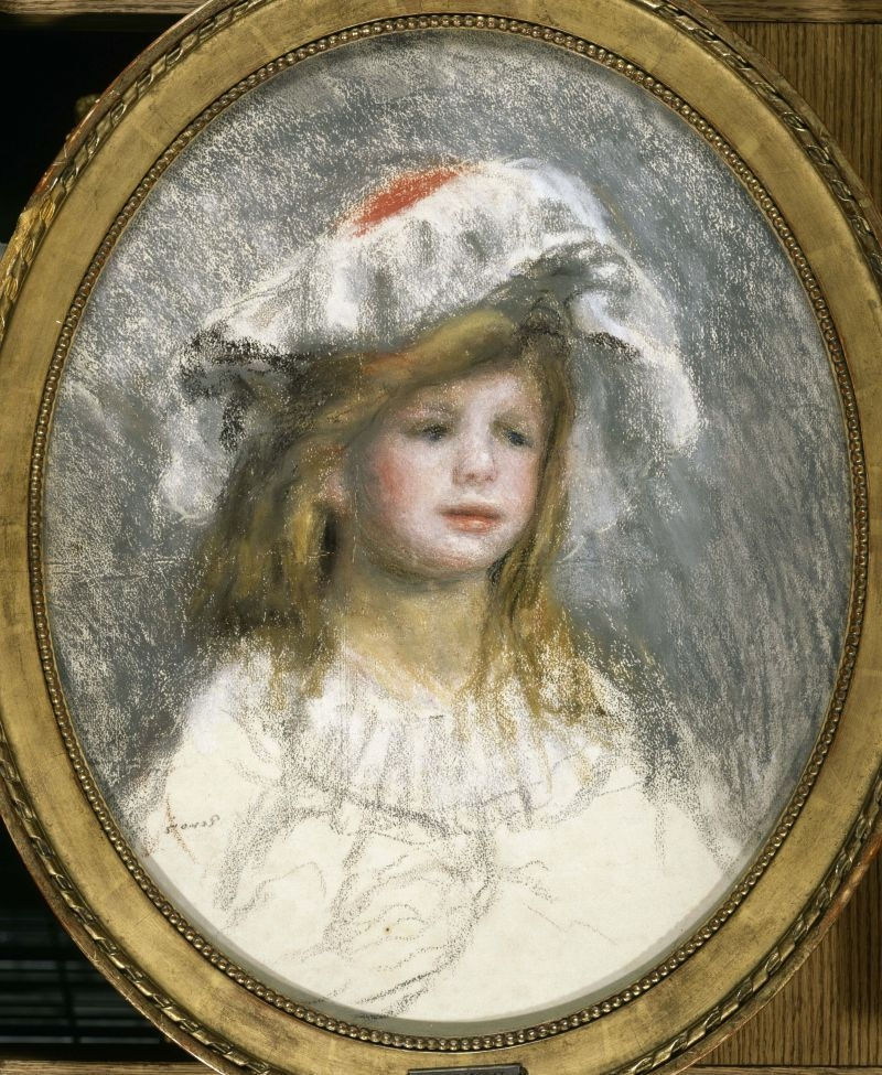 Portrait of a little girl wearing a mob cap image