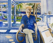 White Whiteley: The portrait of Patrick White by Brett Whiteley image