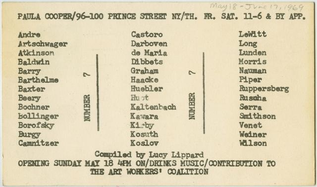 Announcement card for Number 7 image