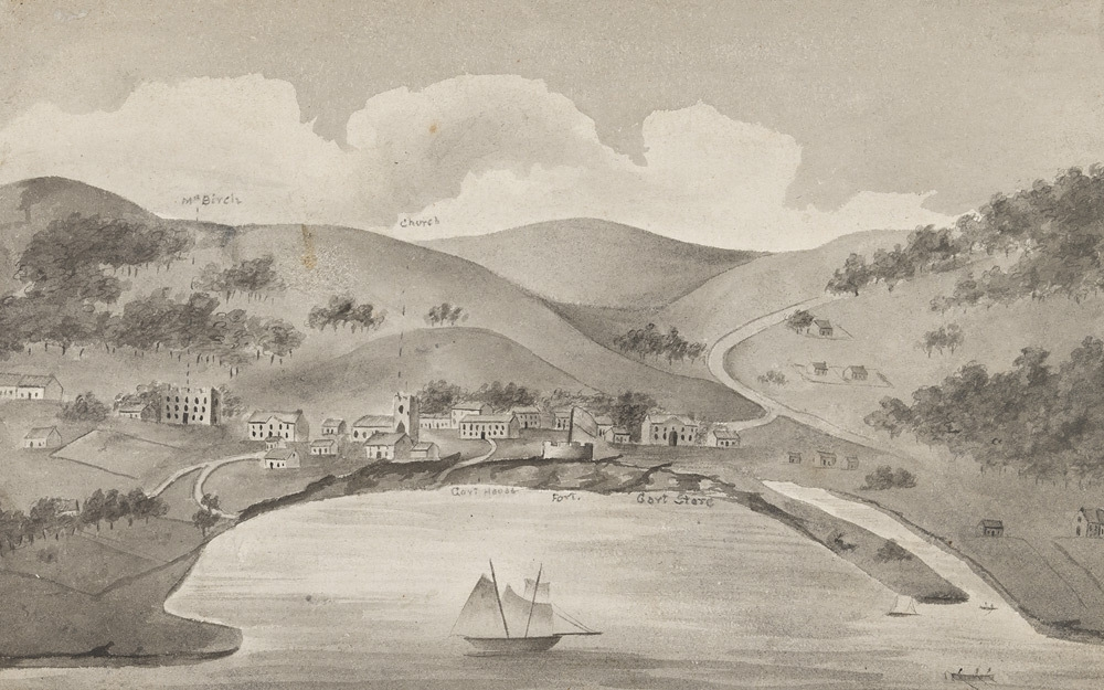 View of Hobart Town in 1817 1817 image