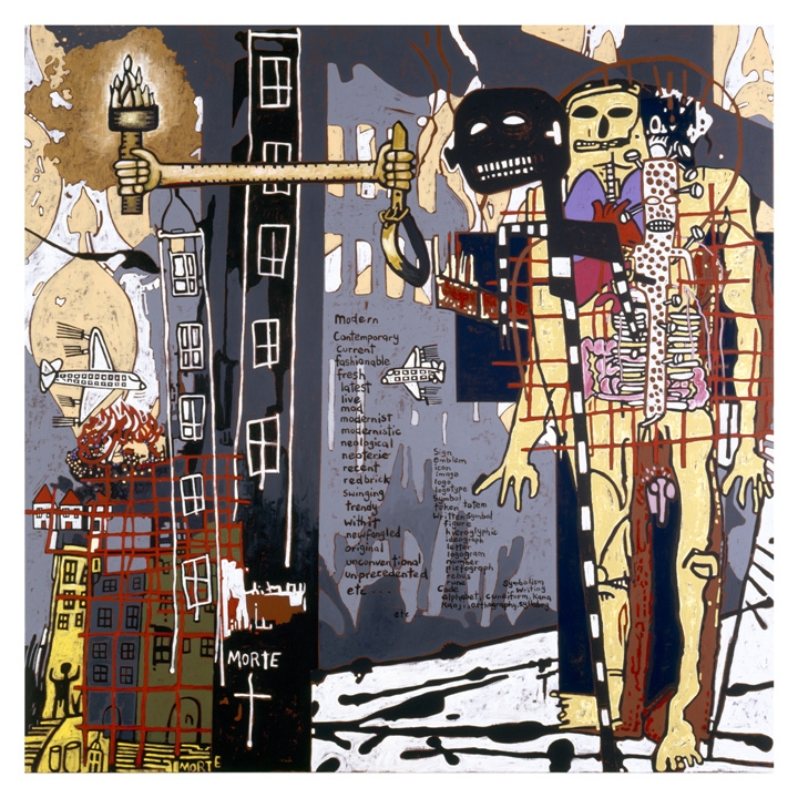 Notes to Basquiat (The coming of the light) image