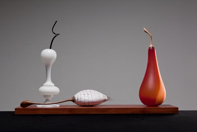 White scent bottle, Murrini fruit and Pear image