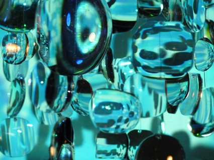 Caitlin Street. Sphere of Influence 3 2011 (detail). Optician's lenses and digital video. image