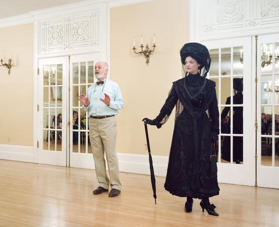 Ivan Sayers, costume historian, lectures at the University Women's Club, Vancouver, 7 Dec. 2009 image