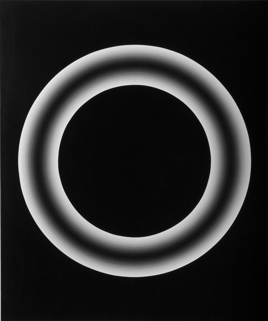 Magda Cebokli, Ring #3. Acrylic on canvas. 101.5 x 122cm.  image