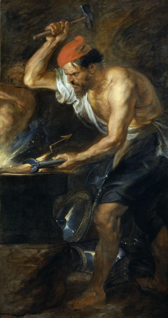 Vulcan forging the thunderbolts of Jupiter (Vulcano forjando los rayos de Júpiter), 1636-37 image