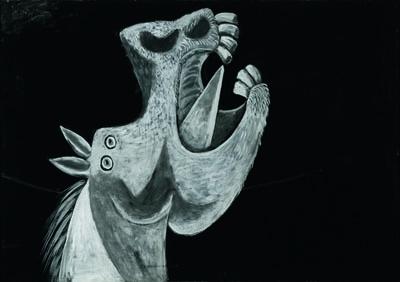 Head of a Horse, Sketch for Guernica (Tête de cheval, étude pour Guernica) image