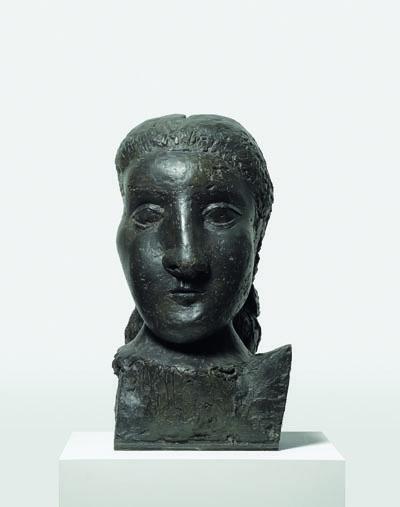 Head of a Woman (Dora) (Te?te de femme [Dora]) Grands-Augustins, Paris, 1941 (cast 1958)  image