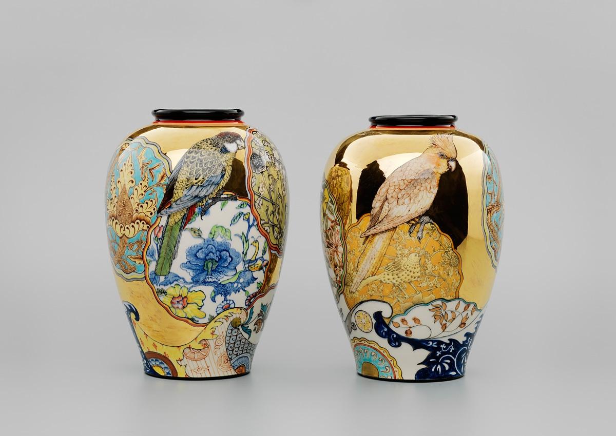 Pair of William Morris Camouflage Vases 2012 image