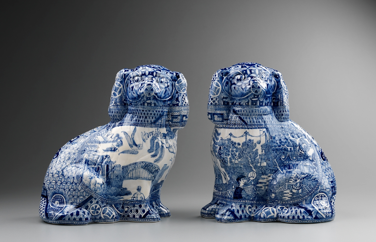 Stephen Bowers Pair of Staffordshire Dogs 2012 image