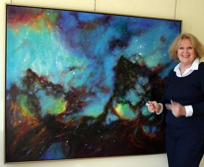 Marie Green with the award winning Tarantula Nebulae image