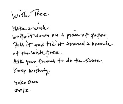 Wish Tree instructions image
