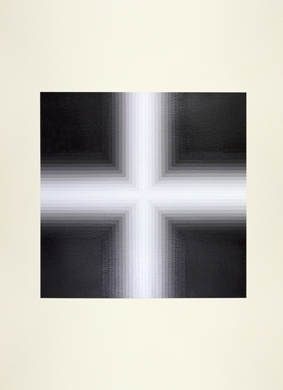 Magda Cebokli, Corner Suite: Variation #4 2012. Acrylic on Saunders paper, 76 x 56cm   image