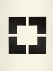Magda Cebokli, Corner Suite: Variation #18, 2012. Acrylic on Saunders paper, 76 x 56cm   image