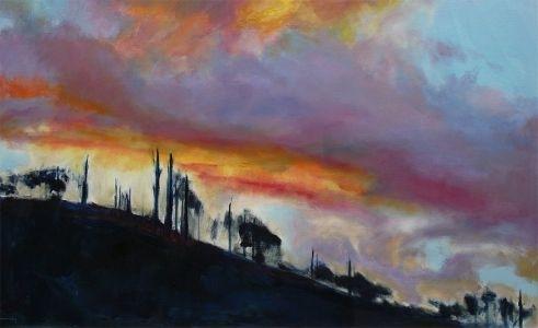 Sunset after fire, Yarra Ranges (detail) image