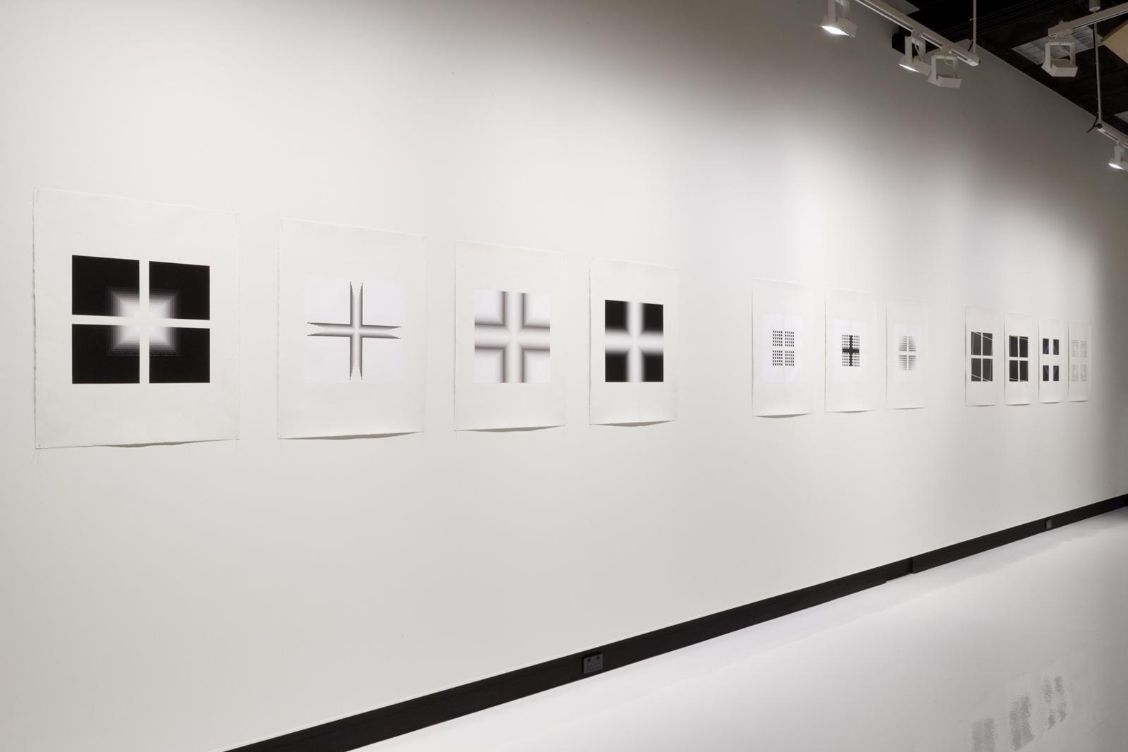 Magda Cebokli, Drawn Out. Installation shot at Counihan Gallery 2013 image