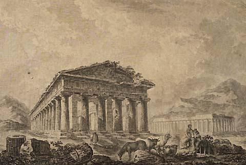 Vue du Temple Hipetre de Pestum image