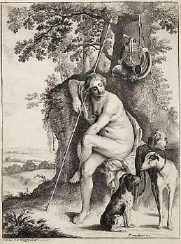 Seated Huntress image