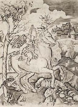 Winged Genius on a Horse image