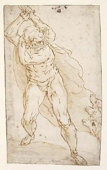Hercules fighting Cerberus image