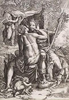 Venus Embracing Adonis image