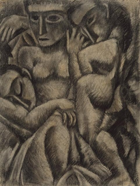 Composition with Four Figures  image