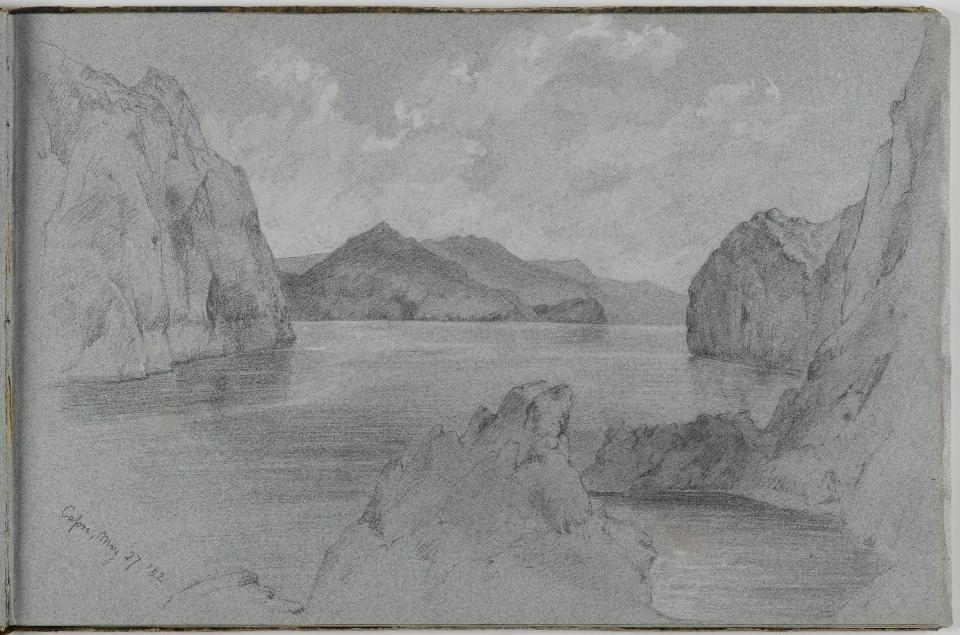 Page from Sketchbook, 1852 image