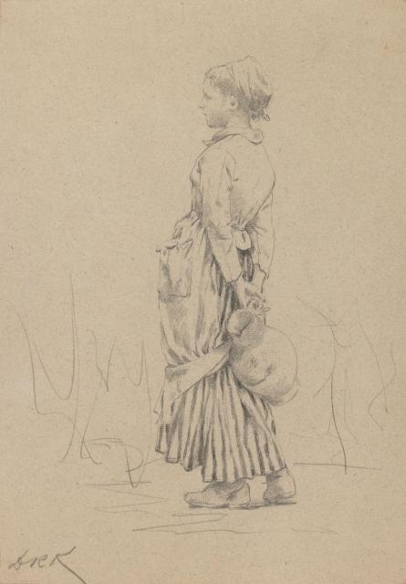 Peasant with Water Jug: Study for
