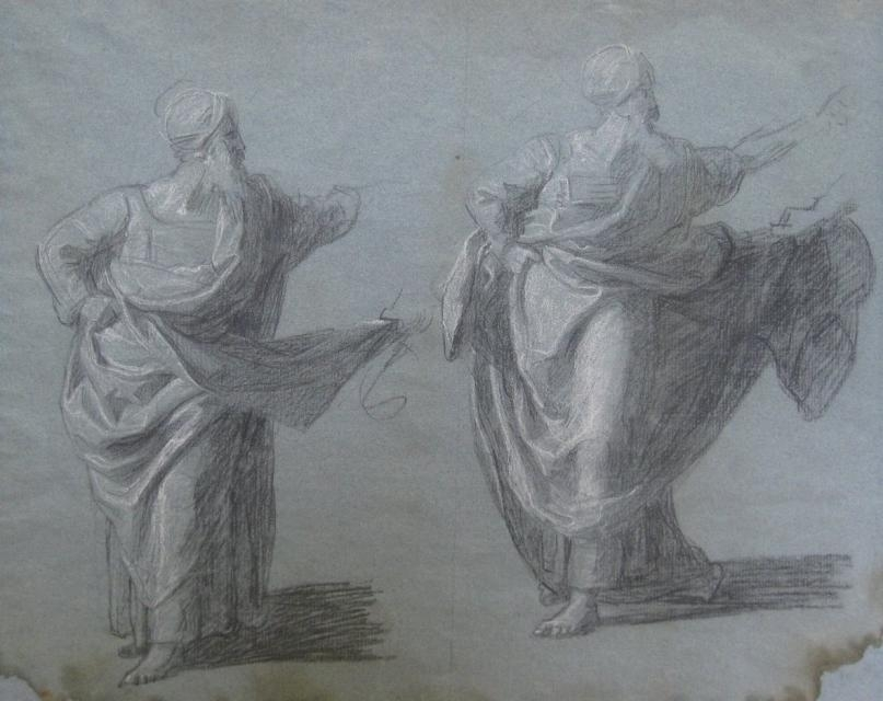 """Studies for """"Saul Reproved by Samuel in Not Obeying the Commandments of the Lord,"""" 1797–98 image"""