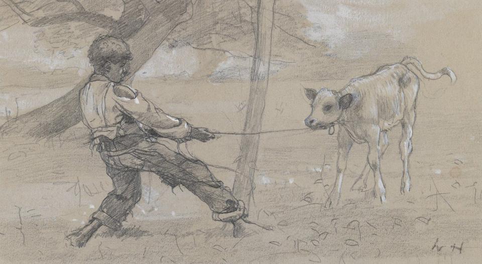 The Unruly Calf, circa 1875–76 image