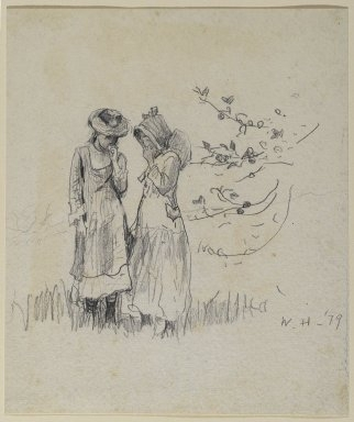 Two Girls in a Field, 1879 image