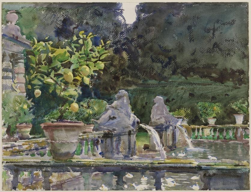 Villa di Marlia, Lucca: A Fountain, 1910  image