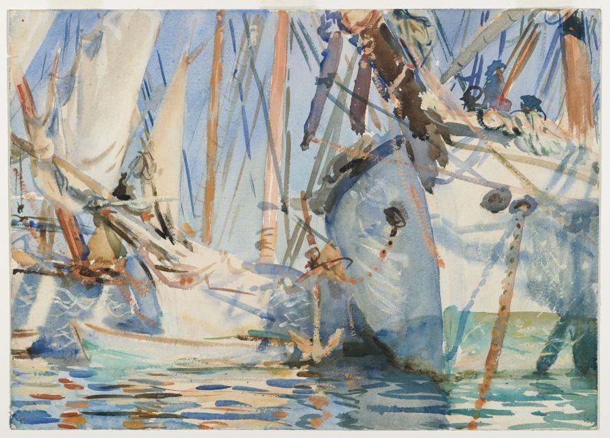 White Ships, circa 1908 image