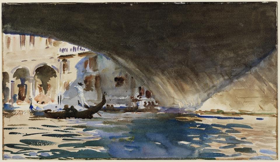 Venice: Under the Rialto Bridge, 1909 image