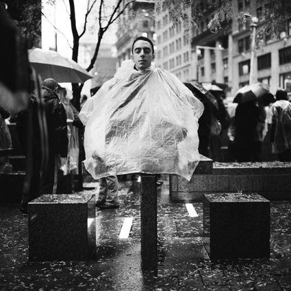 Occupy Wall Street demonstrator Edgar Cancinos 17 from Elmhurst, Queens, NY