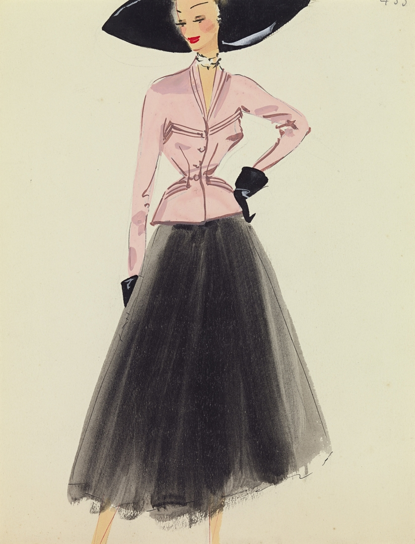 UNKNOWN JACQUES HEIM, Paris (attributed to) fashion house image